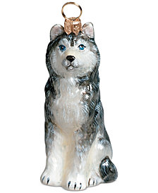 Joy to the World Siberian Husky Pet Charity Ornament