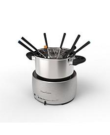 """Stainless Steel Fondue Pot Set - 10"""" Forks"""