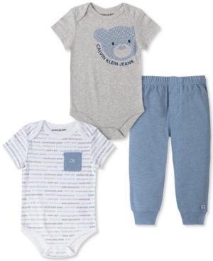 Calvin Klein Baby Boys 3-Pc. Bodysuits & Pants Set