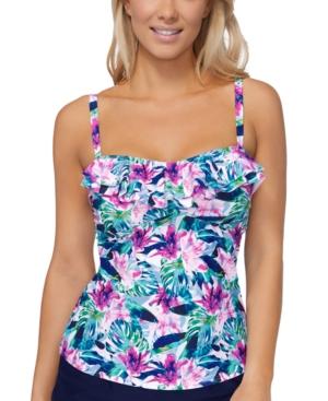 Mali Bloom Tahiti Printed Tankini Top