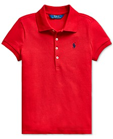 Little Girls Stretch Piqué Polo Shirt
