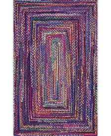 Nomad Hand Braided Tammara Cotton Blue 3' x 5' Area Rug