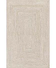 Texture Braid Doutzen Indoor and Outdoor Ivory 5' x 8' Area Rug