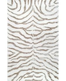Feral Hand Tufted Plush Zebra Gray 4' x 6' Area Rug