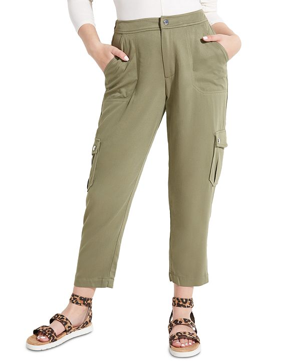 GUESS Huxley Cropped Cargo Pants