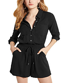 GUESS Charlie Button Front Romper