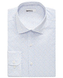 Men's Slim-Fit Performance Stretch Scattered Dot-Print Dress Shirt, Created for Macy's