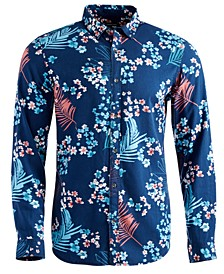 INC Men's Regular-Fit Floral-Print Shirt, Created for Macy's