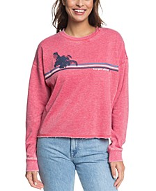 Juniors' Dream Believer Oversized Fleece Top