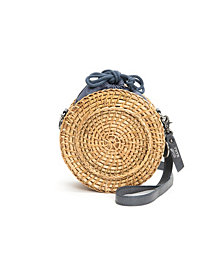 Frye and Co. Women's Esme Straw Canteen Bag