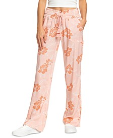 Juniors' Oceanside Floral-Print Pants