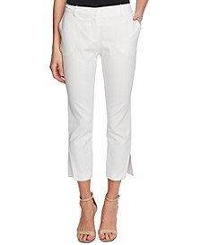Women's Cotton Doubleweave Side Zip Pant