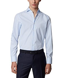 BOSS Men's Mark US Light Pastel Blue Shirt