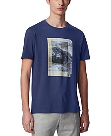 BOSS Men's Tiburt 164 Dark Blue T-Shirt