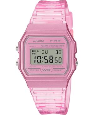Unisex Digital Pink Jelly Strap Watch 35.2mm