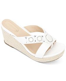 Card Glam Wedge Sandals