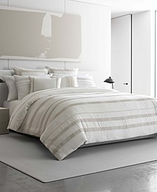 Pucker Grid King Duvet Cover Set
