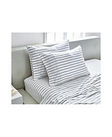 Slub Jersey Stripe Sheet Twin