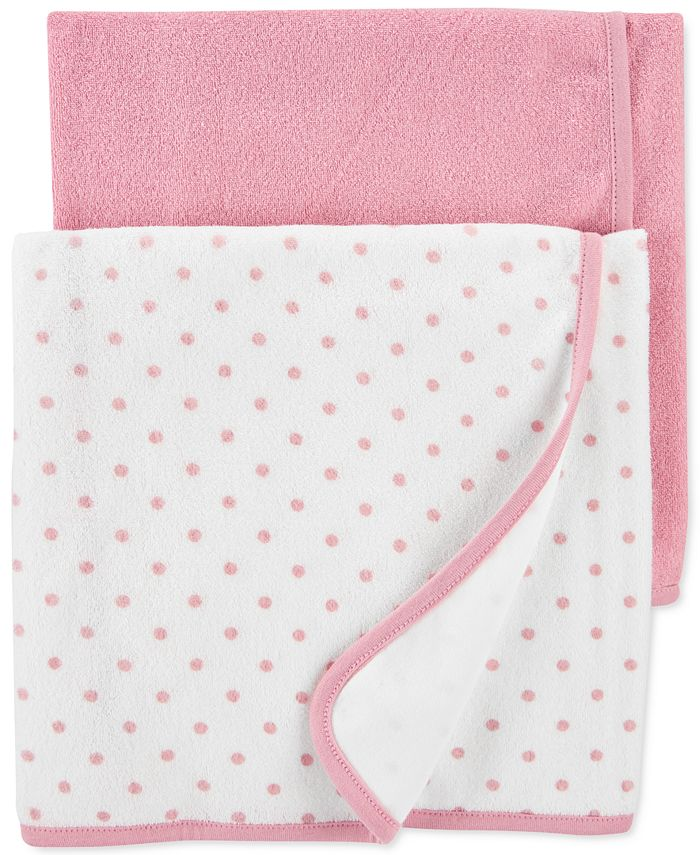 Carter's - Baby Girls 2-Pk. Terry Cloth Towels