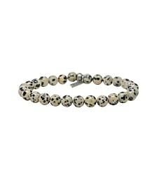 Dalmatian Jasper Elastic Beaded Bracelet
