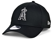 Los Angeles Angels   Clubhouse Black White 39THIRTY Cap