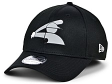 Chicago White Sox   Clubhouse Black White 39THIRTY Cap