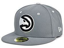 Atlanta Hawks Storm Black White Logo 59FIFTY Cap