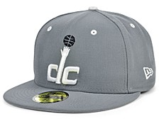 Washington Wizards Storm Black White Logo 59FIFTY Cap