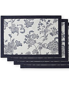 Marquis by Camlin Navy/White Placemat Set of 4