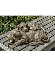 Nap Time Puppies Garden Statue