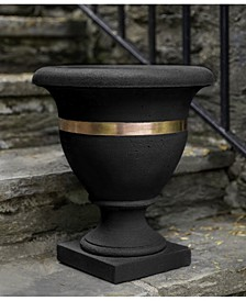 Classic Copper Banded Urn Planter