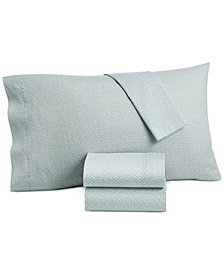 CLOSEOUT! Lucky Brand Baja Stripe Cotton 230-Thread Count 4-Pc. California King Sheet Set, Created for Macy's