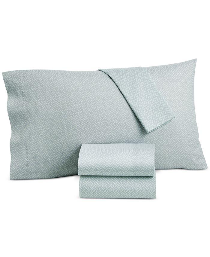 Lucky Brand - Baja Stripe Cotton 230-Thread Count 4-Pc. California King Sheet Set