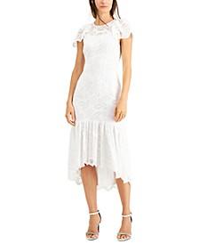 High-Low Lace Sheath Dress