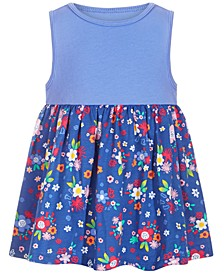 Baby Girls Cotton Floral Medley Tunic, Created for Macy's