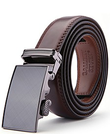 Men's Genuine Leather Ratchet Dress Belt
