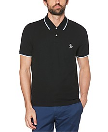 Men's Sticker Pete Pique Polo Shirt