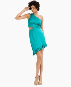 Ruffled Asymmetric Sheath Dress