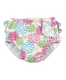 Baby & Toddler Girl Ruffle Snap Reusable Absorbent Swimsuit Diaper