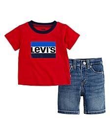Baby Boys Denim Short Set