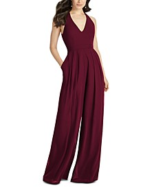 V-Neck Wide-Leg Jumpsuit
