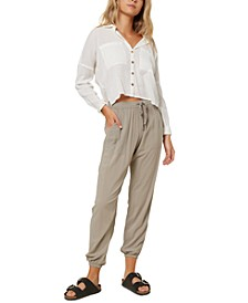 Juniors' Barlea Cotton Cropped Shirt