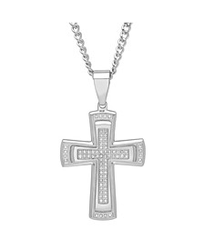 Men's Stacked Cross Pendant Necklace