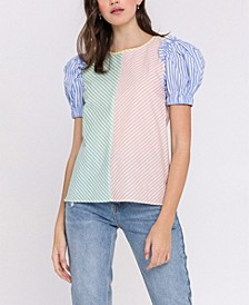 Stripe Multi Color Top