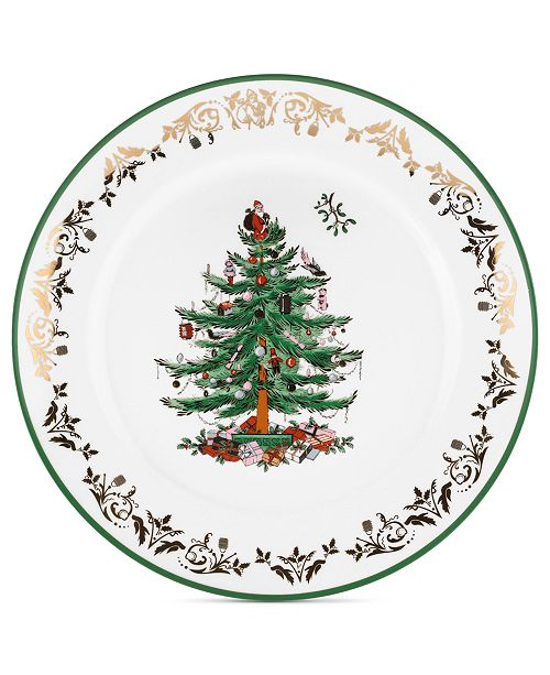 Spode Christmas Tree China Sale: Spode Christmas Tree Gold Round Charger