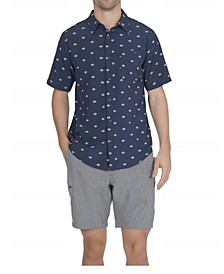 Men's 1 Pocket Sun Protection Button Down Performance Shirt