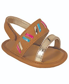 Baby Girls Banded Sandal with Accents