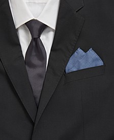 BOSS Men's Rolled Open Blue Pocket Square