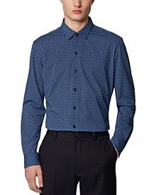 BOSS Men's Robbie_F Medium Blue Shirt
