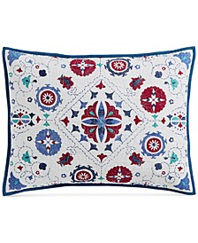 Vintage Folklore Quilted Standard Sham, Created for Macy's